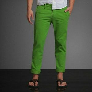 Abercrombie & Fitch Green Chinos Men's